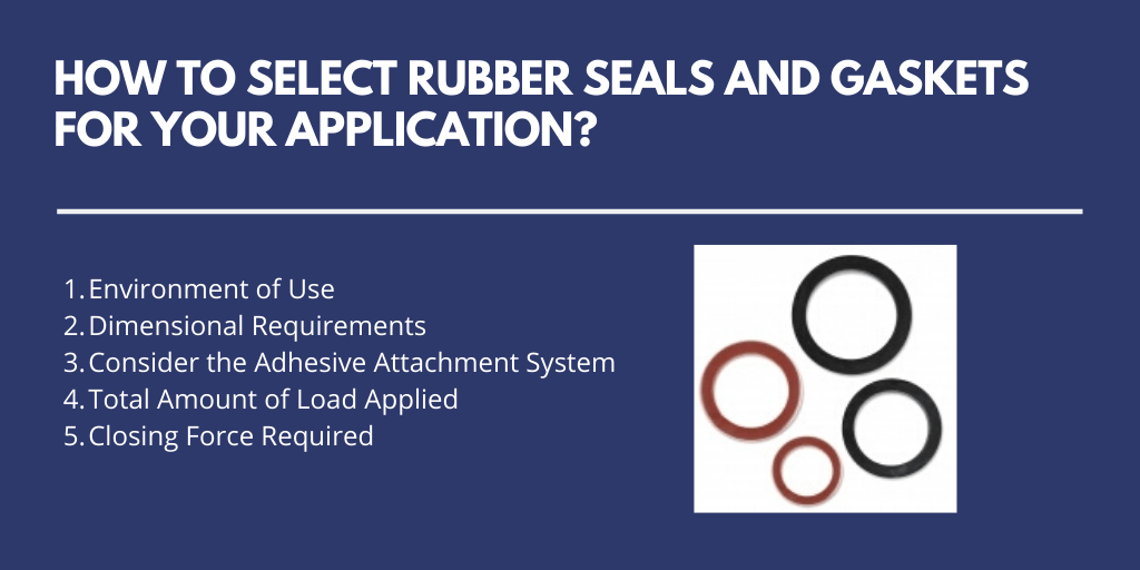 How to Select Rubber Seals and Gaskets for Your Application?